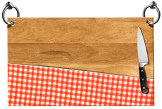Cutting Board - Signboard with clipping path Royalty Free Stock Image