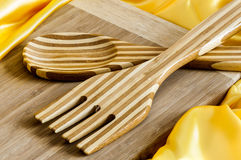Cutting board and utensils Stock Photography