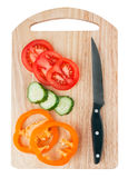 Cutting board with vegetables Royalty Free Stock Photography