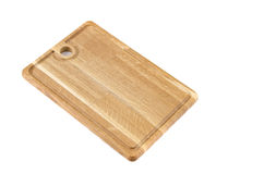 Cutting board. On white baclground Stock Photos