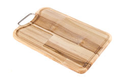 Cutting board. On white baclground Royalty Free Stock Photos
