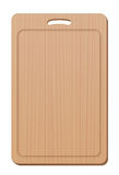 Cutting Board Wood Grip Upright Blank Simple Cooking Utensil Stock Photo