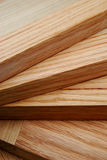 Cutting Boards. Stacked hardwood (maple and oak) cutting boards Stock Photo