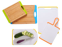 Cutting boards. Isolated Royalty Free Stock Images