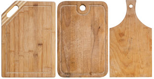 Cutting boards. Set of cutting boards isolated on a white background Royalty Free Stock Photos