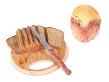 Cutting bread Stock Photography
