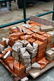 After cutting brick Stock Photography
