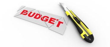CUTTING BUDGET Royalty Free Stock Photo