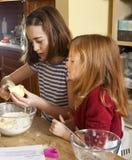 Cutting the Butter. Stock Photos