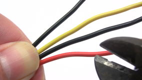 Cutting Cables stock video