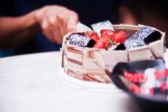 Cutting Cake Stock Photos
