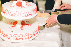 Cutting Cake Royalty Free Stock Images