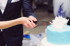 Cutting Cake Together Stock Photos