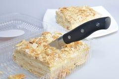 Cutting cake Royalty Free Stock Photo