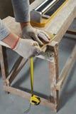 Cutting Ceramic Tiles. Royalty Free Stock Photos