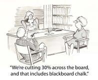 Cutting chalk Stock Image