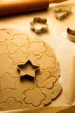 Cutting of Christmas cookies royalty free stock image
