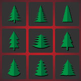 Cutting Christmas trees. Vector illustration EPS-10 Royalty Free Stock Photo