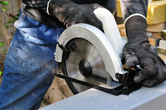 Cutting Circular Saw Stock Images