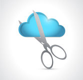 Cutting a cloud. illustration design Stock Photos
