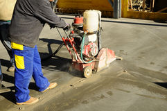 Cutting concrete Royalty Free Stock Image