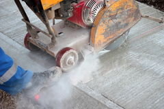 Cutting concrete Stock Photo