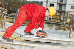 Cutting construction wood board Royalty Free Stock Image