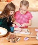 Cutting cookies Stock Photos