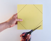 Cutting Corners White Background Royalty Free Stock Photos