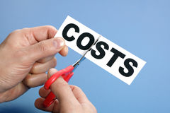 Cutting costs Stock Photos
