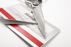 Cutting Credit Card Royalty Free Stock Photo