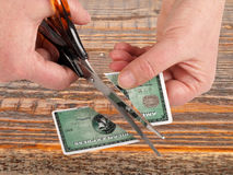 Cutting credit card Royalty Free Stock Images