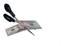 Cutting Currency Royalty Free Stock Image