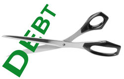 Cutting debt Royalty Free Stock Photo