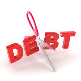 Cutting Debt Stock Photos