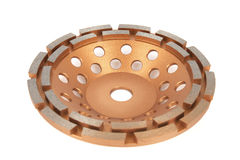 Cutting disks with diamonds - Diamond discs for concrete isolated on the white background. Cutting disks with diamonds - Diamond discs for concrete isolated on Stock Photography