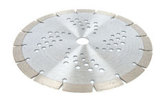 Cutting disks with diamonds - Diamond discs for concrete isolated on the white background. Cutting silver disks with diamonds - Diamond discs for concrete Royalty Free Stock Photo