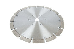 Cutting disks with diamonds - Diamond discs for concrete isolated on the white background. Cutting silver disks with diamonds - Diamond discs for concrete Royalty Free Stock Image