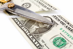 Cutting dollars Royalty Free Stock Image