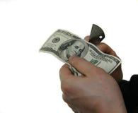 Cutting dollars Stock Photography