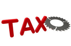 Cutting down taxes concept Royalty Free Stock Images