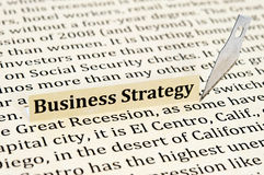 Cutting edge business strategy Royalty Free Stock Image