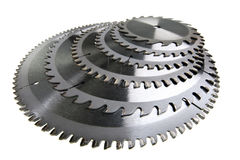 Circular Saw disc for wood cutting.Still-life on a white background Stock Image