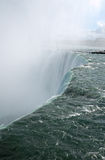 Cutting edge of Niagara Falls. Falling water Royalty Free Stock Images