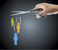 Cutting employees Stock Image
