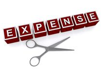 Cutting expense Stock Image