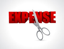 Cutting expenses. illustration design Stock Image