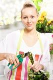 Cutting the flower stems Stock Photos