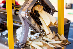 Cutting French Fries Royalty Free Stock Photos