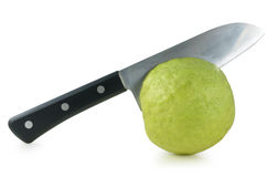 Cutting fresh guava Royalty Free Stock Photo